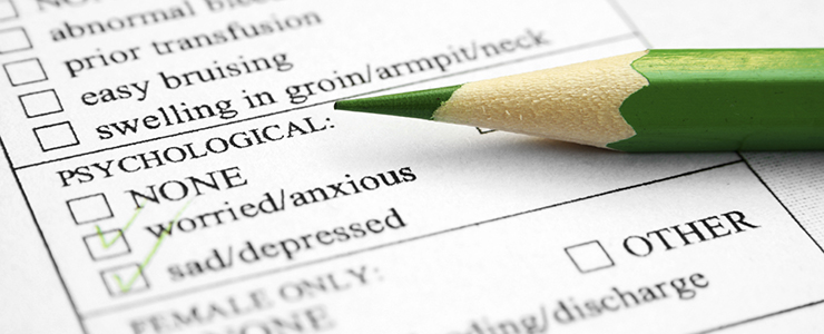 evaluation form for mental health