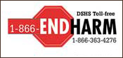 END HARM STICKER