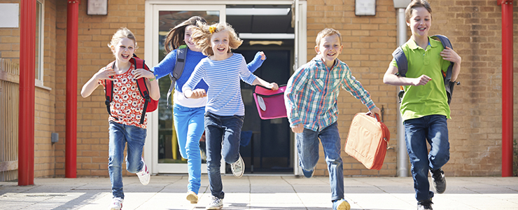 children running in school - photo #21