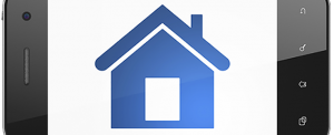 smart phone with house icon