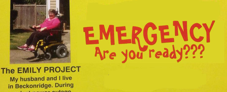 Flyer for The Emily Project: Emergency, Are You Ready?