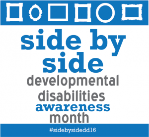 side by side developmental disabilities awareness month social media image