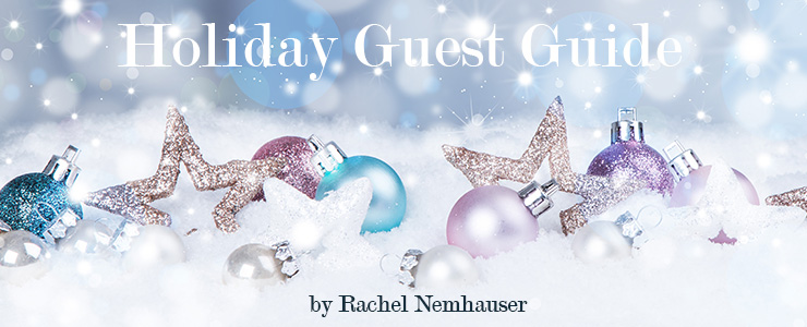 Holiday background with blue baubles,snow and snowflakes