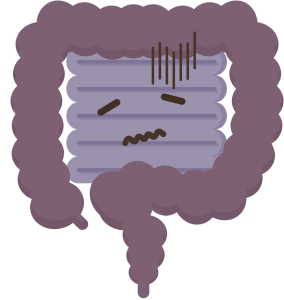 illustration of a sad bowel