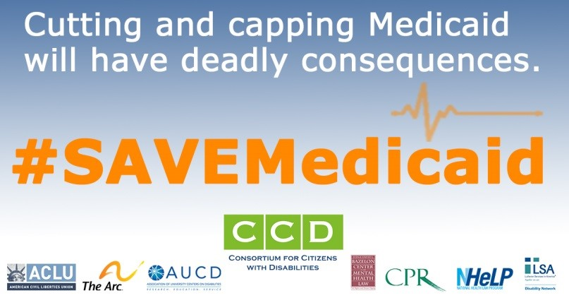 Save Medicaid Logo that reads: Cutting and capping Medicaid will have deadly consequences
