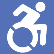 light blue accessibility logo