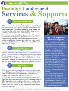 screen image of the printable version of employment services and supports