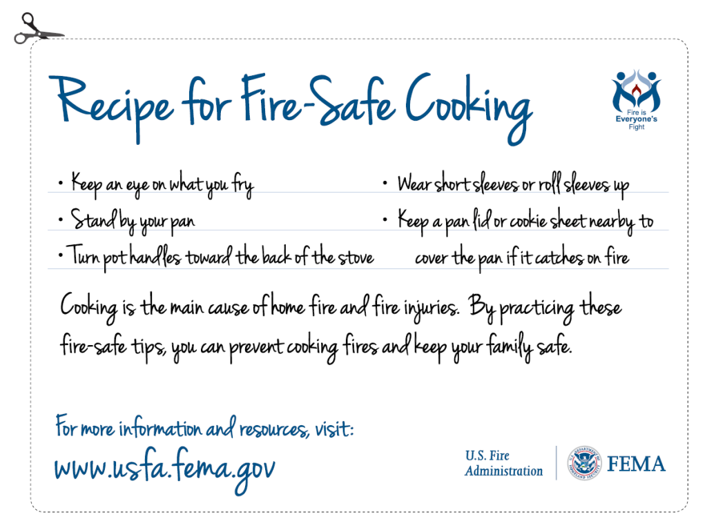 Recipe for Fire Safe Cooking