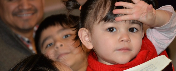 close up of two young children