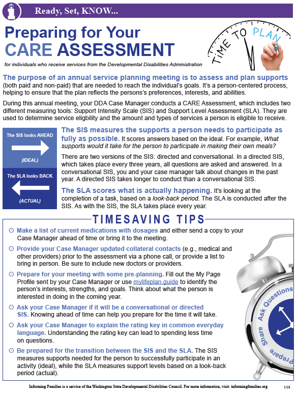 Screen shot of the PDF version of the article on CARE Assessment