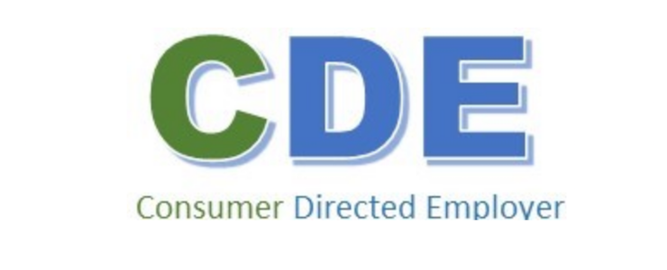 CDE Consumer Directed Employer logo in green and blue.