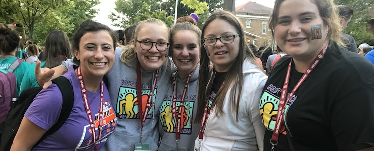 (L-R) Erica Brody, Grace Goldman, Laurel Freedman, Devon Adelman, Molly McCabe at Best Buddies 2018 Leadership Conference.