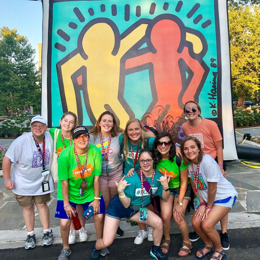 Best Buddies International Leadership Conference 2019. (L-R) Michael Graham, Margot, Ivanova Smith, Mary-Kylie Cranford, Grace Goldman, Devon Adelman, Erica Brody, Gwen Gabert (Photo credit: Best Buddies Washington)