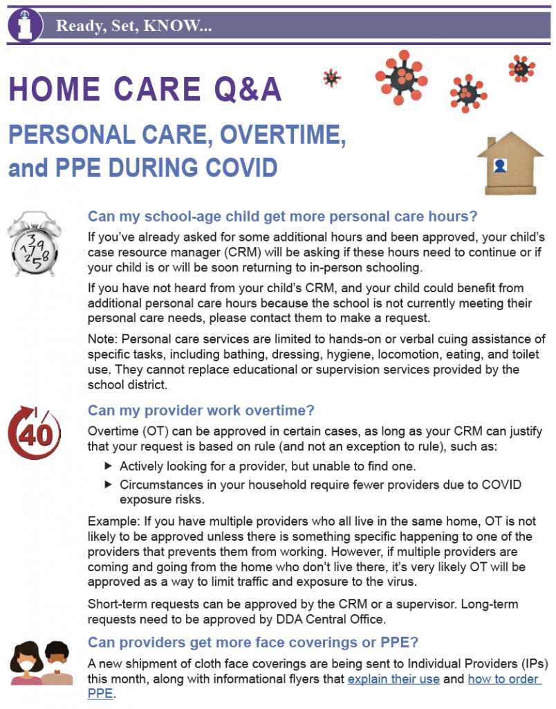 Thumbnail image of Home Care Q&A bulletin.