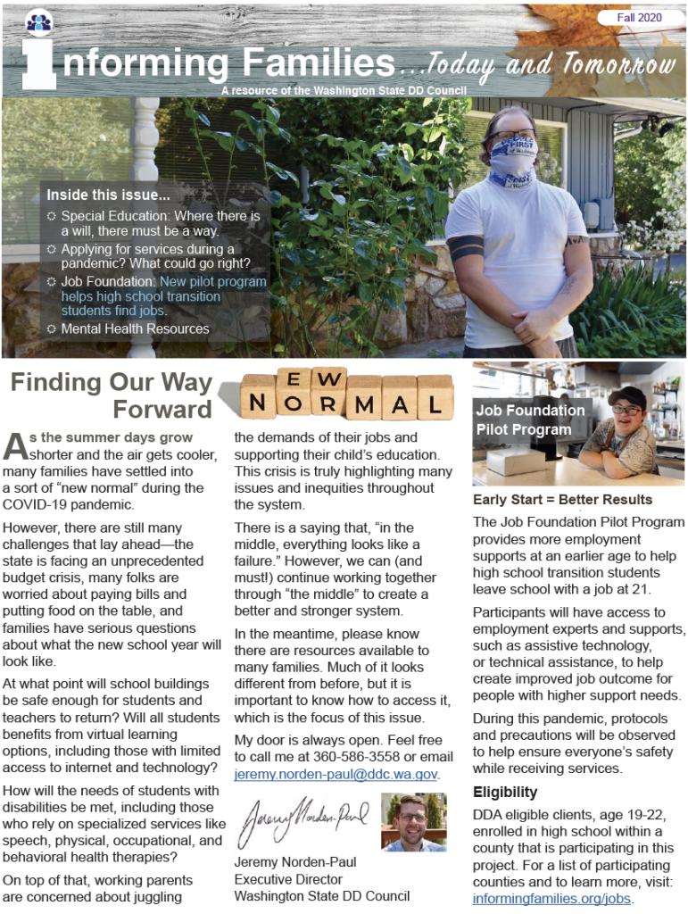 Thumbnail image of fall 2020 newsletter cover