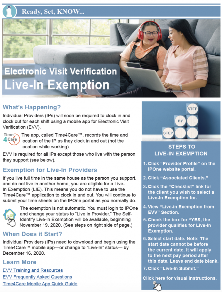 Thumbnail image of EVV exception bulletin.