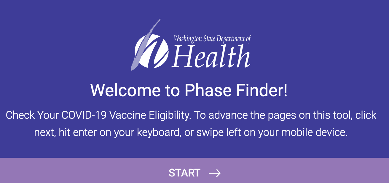 Washington State Department of Health Vaccine Phase Finder.