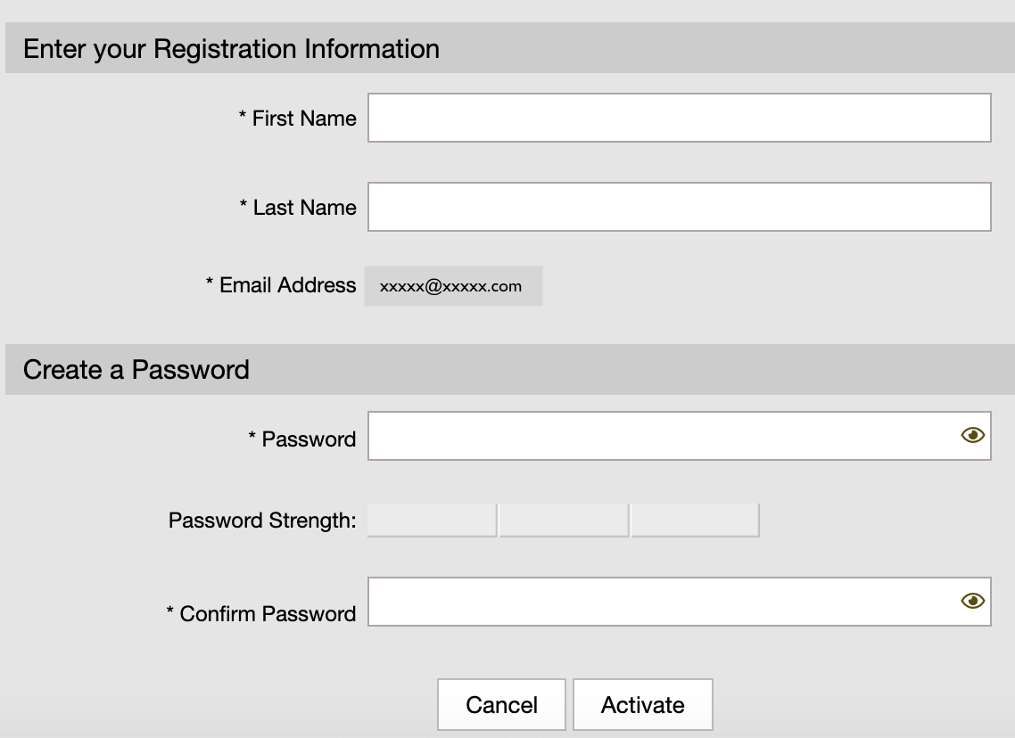 Screen shot of secure email account set up window.